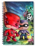 Funkos Daredevil And The Phantom In The Jungle Spiral Notebook