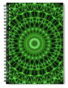 Dark And Light Green Mandala Spiral Notebook