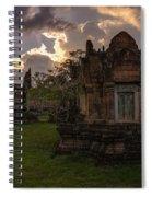 Dark Cambodian Temple Spiral Notebook