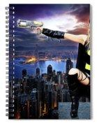 Dark City Of The Bat Spiral Notebook