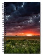 Dark Clouds At Sunset Spiral Notebook