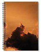 Dark Clouds Looming Spiral Notebook