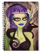 Dark Fairy With Dragon Friend Spiral Notebook