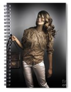 Dark Fashion Style With Fashionable Bag Accessory Spiral Notebook