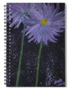 Dark Floral  Spiral Notebook