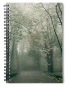 Dark Gloomy Alley In Woods Spiral Notebook