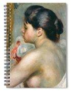 Dark-haired Woman Spiral Notebook