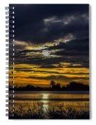 Dark Lake Sunrise Spiral Notebook