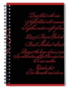 Dark Nights Bright Days Wedding Invitaion Spiral Notebook