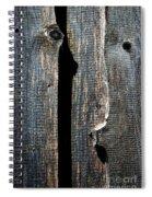 Dark Old Wooden Boards With Shadow Spiral Notebook