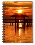 0209 Dark Orange Sunrise On Sound Spiral Notebook