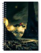 Dark Planet Spiral Notebook
