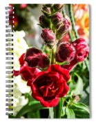 Dark Red Fancy Snapdragon Spiral Notebook