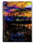 Dark Shadowy Sunset Spiral Notebook