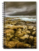 Dark Skies On Ocean Shores Spiral Notebook