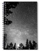 Dark Stellar Universe Spiral Notebook