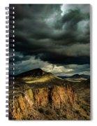 Dark Storm Clouds Over Cliffs Spiral Notebook