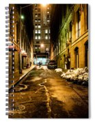 Dark Street Spiral Notebook