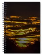 Dark Sunrise Spiral Notebook