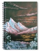 Dark Sunset Spiral Notebook