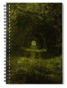 Dark Wood Spiral Notebook