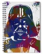 Darth Vader Paint Splatter Spiral Notebook