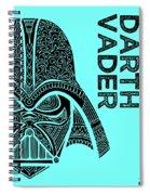 Darth Vader - Star Wars Art - Blue Spiral Notebook