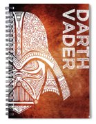 Darth Vader - Star Wars Art - Brown And White Spiral Notebook