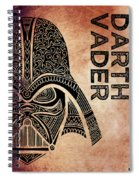 Darth Vader - Star Wars Art - Brown Spiral Notebook