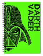 Darth Vader - Star Wars Art - Green Spiral Notebook