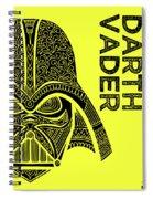 Darth Vader - Star Wars Art - Yellow Spiral Notebook
