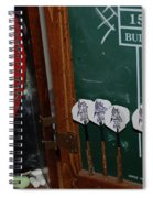 Darts And Board Spiral Notebook