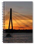 Daugava Sunset. Riga. Latvia Spiral Notebook
