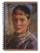 Daughter Of The Artist 1933 Kuzma Sergeevich Petrov-vodkin Spiral Notebook