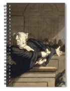 Daumier: Advocate, 1860 Spiral Notebook