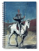 Daumier: Quixote, 19th C Spiral Notebook