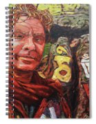 Dave Alber Self-portrait At Swayambunath, Kathmandu, Nepal Spiral Notebook