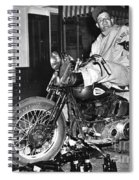 Dave On A Harley Tulare Raiders Mc Hollister Calif. July 4 1947 Spiral Notebook
