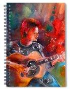 David Bowie In Space Oddity Spiral Notebook