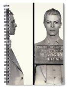 David Bowie Mugshot 1976 Spiral Notebook