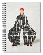 David Bowie Typography Art Spiral Notebook