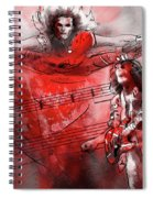David Lee Roth And Eddie Van Halen Jump Spiral Notebook