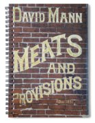 David Mann - Meats And Provisions Spiral Notebook