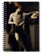 David With The Head Of Goliath 1606 Spiral Notebook