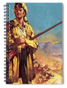 Davy Crockett  Hero Of The Alamo Spiral Notebook