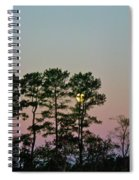 Dawn And Moon Setting - Virginia Spiral Notebook