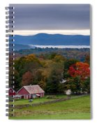 dawn arrives at sleepy Peacham Vermont Spiral Notebook