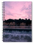 Dawn At Boathouse Row Spiral Notebook