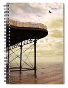 Dawn At Colwyn Bay Victoria Pier Conwy North Wales Uk  Spiral Notebook