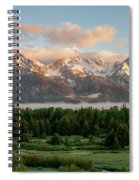 Dawn At Grand Teton National Park Spiral Notebook